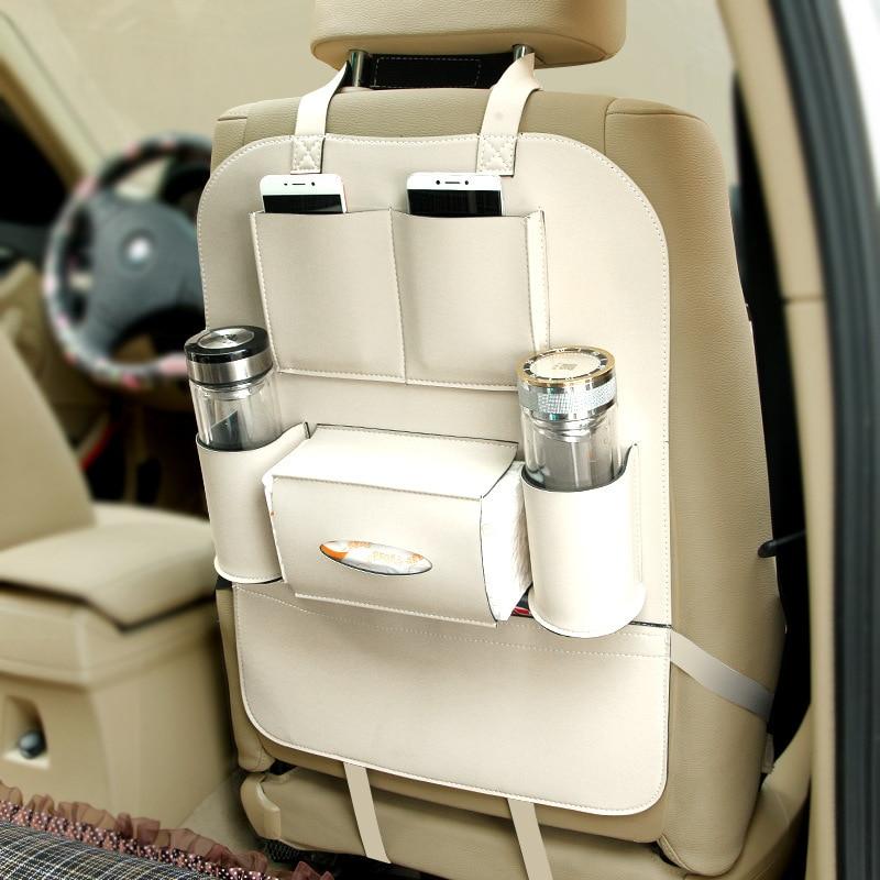 Asiento de cuero Asiento trasero Plegable Bolsa de almacenamiento - Accesorios de interior de coche - foto 3