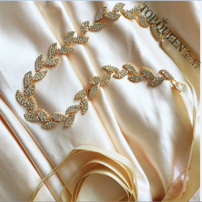 TOPQUEEN FREE SHIPPING S198-G Rhinestones Crystals Wedding Belts Wedding sashes,Rhinestones Crystals Bridal Belts Bridal Sashes.