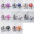 Mix cor esmalte cereja flor de segurança clipe charme fit pulseira estilo pandora PBC001