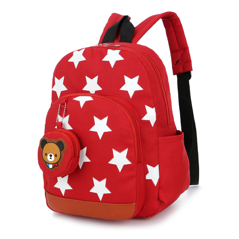 Baby's Cute Stars School Bags Red Mochila Kids Bags