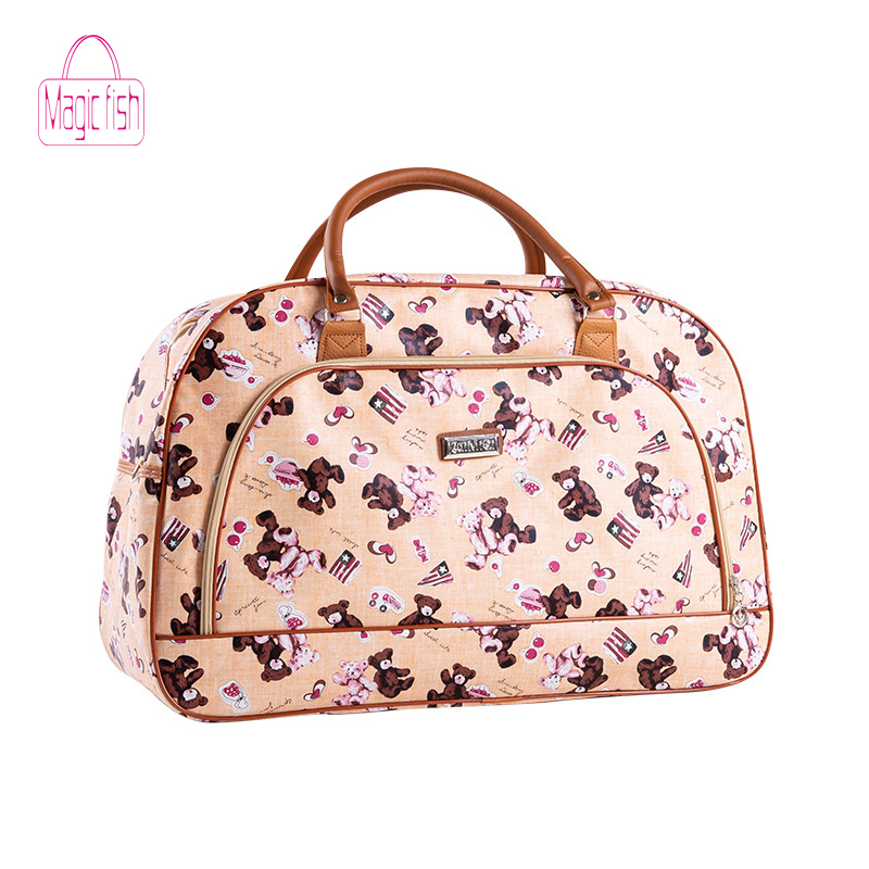 Ornaments Pattern Travel Luggage Storage Bag Duffel Bag Handle Makeup Bag Fashion Lightweight Large Capacity Portable Luggage Bag