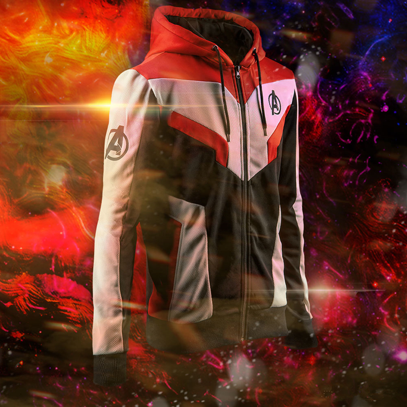 Avengers Endgame Quantum Realm Sweatshirt Jacket Advanced Tech Embroidery Hoodie Cosplay Costumes