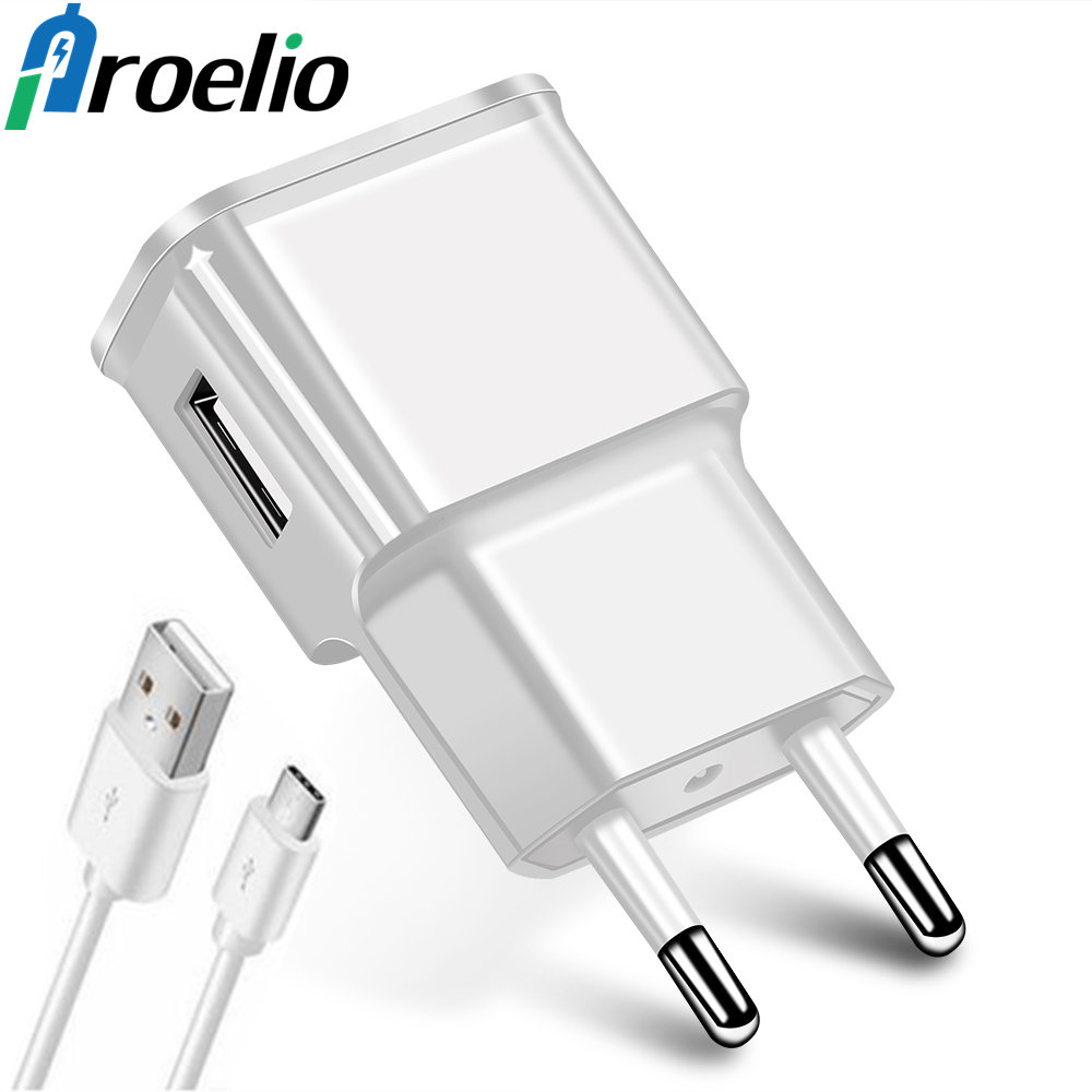 USB Charger For Phone EU plug Adapter 5V 2A USB Wall Charger Mobile phone charger for Samsung Galaxy S5 S6 Note4 N9000 USB Cable