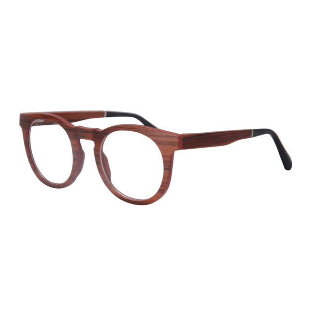 retro round glasses frame wooden optical frame prescription glasses myopia eyewear spectacles frame high quality SH73010