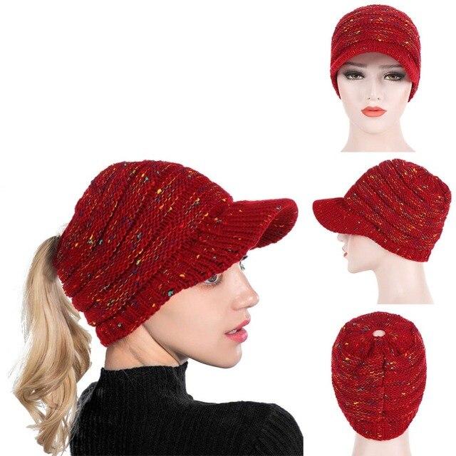 Women Fashion Sports Cap Running Caps Winter Soft Knit Woolen Beanies  Female Warm Winter Stretch Knitted Fitness Jogging Hats d0ed3f58927