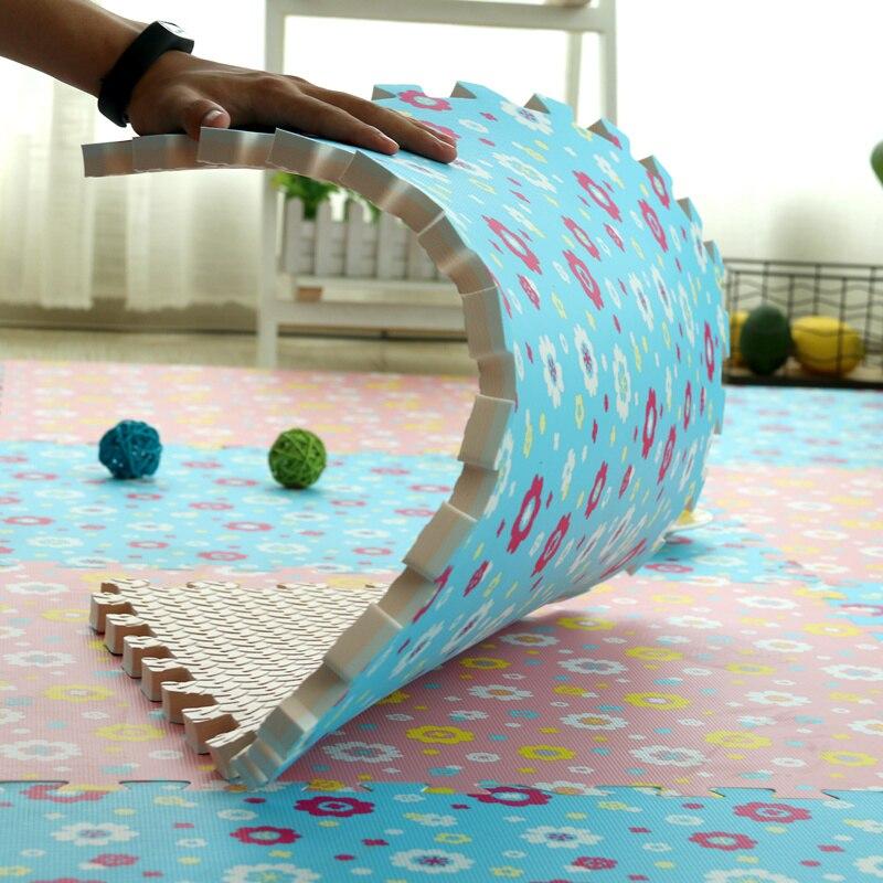 4Pcs Black  Interlocking Eva Mat Soft Foam Floor Exercise Kid Play Mats 60x 60cm