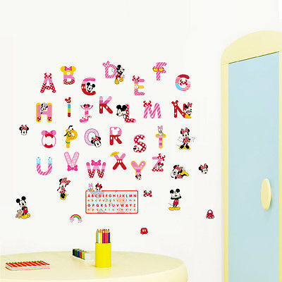 Theme ALPHABET Wall Stickers Cartoon 26 Letters Decals ABC School Kids Room  Decor -in Wall Stickers from Home u0026 Garden on Aliexpress.com | Alibaba Group