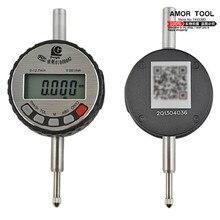 Indicador de dial Digital sin oreja 0-12.7mm/0.001mm pantalla LCD electrónico indicadores de prueba de acero inoxidable de calibre herramienta de medición
