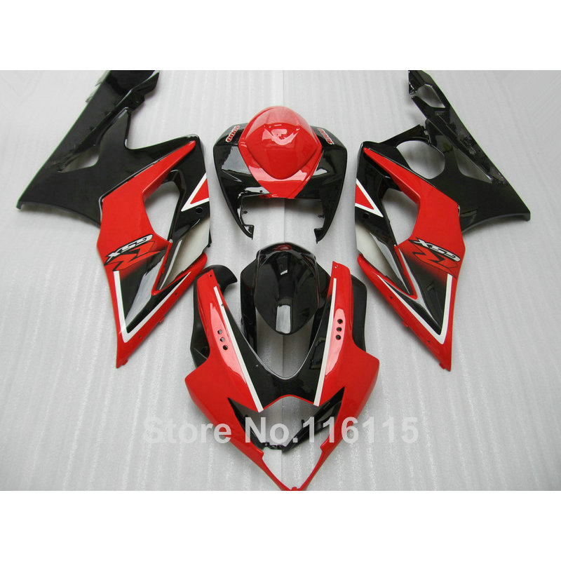 Injection molding fairing kit for SUZUKI GSXR1000 2005 2006 red black bodykits GSX-R 1000 05 06 K5 K6 fairings CP79 free customize mold fairing kit for suzuki gsx 600f 750f 95 96 97 05 red black fairings set gsx600f 1995 1996 2005 lm41