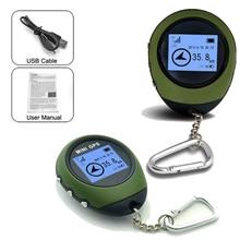Мини перезаряжаемый gps-трекер навигационный приемник ручной локационный искатель с электронным компасом для путешествий на открытом воздухе