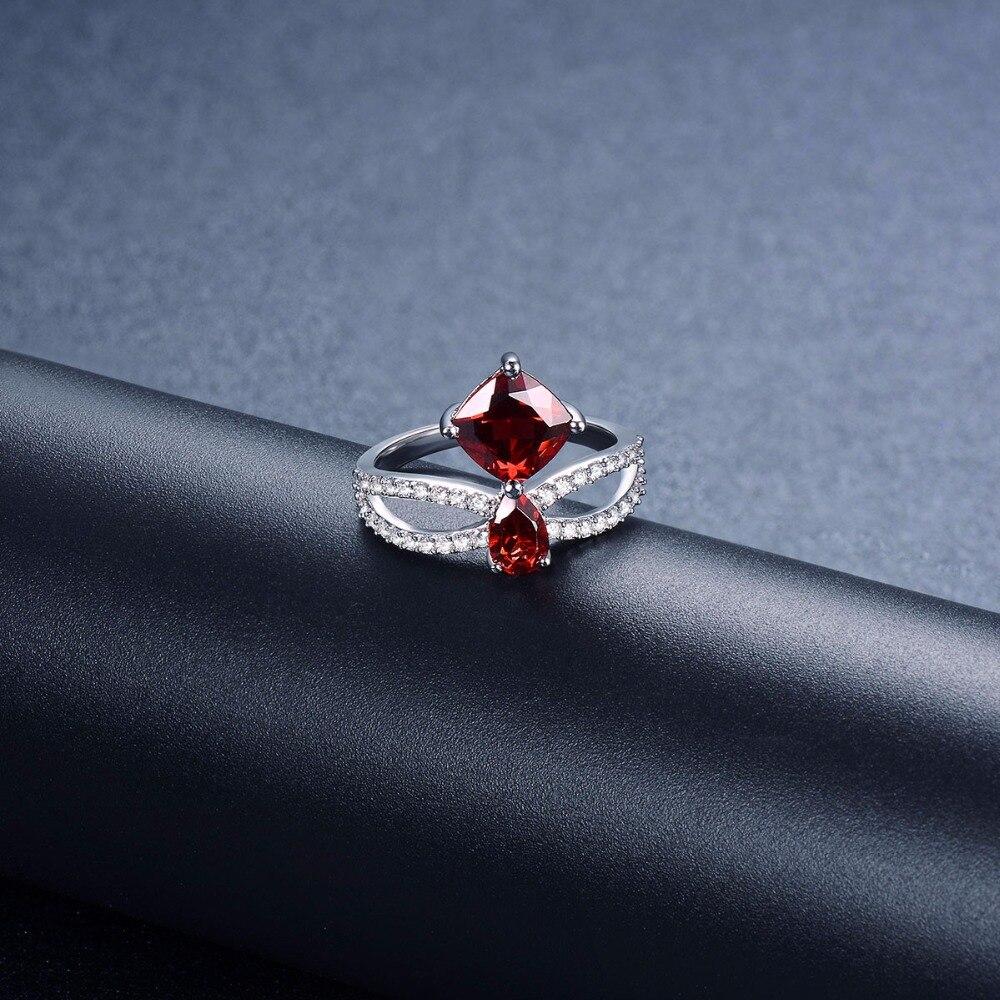 Hutang натуральный камень гранат и аналогичные Кольца с алмазами 925 серебро Обручение кольцо Для женщин Fine Jewelry подарки подарок