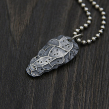 цена на JINSE 100% Sterling Silver Aerolite Meteorolite Pendant For Necklace Making Thai Silver Jewelry Accessory 35*20MM 9.80G