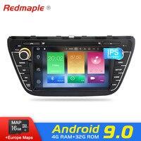 Android 9,0 автомобильный dvd радиоплеер для Suzuki SX4 S Cross 2014 2015 2016 аудио gps Мультимедиа Навигация и видеоприемник, работающий на стерео