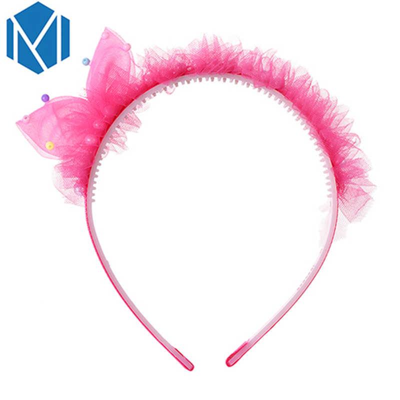 M Mism Gadis Anak Rambut Band Putri Busur-Simpul Hiasan Kepala Ulang Tahun Lucu Aksesoris Rambut Pesta Anak-anak Halus Rambut Hoop ikat Kepala