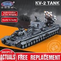 XingBao 06006 Creative Military the KV 2 Tank Set compatible LEGOINGs MOC Building Blocks Bricks Toy for Children Education