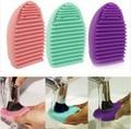 Силиконовые кисти очистки оригинал Brushegg косметического кисть очиститель кисть яйцо щетку чистое чистый инструмент