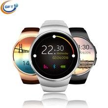 GFT KW18 Smart Uhr android bluetooth smartwatch sim mit herz rate monitor mtk2520c unterstützung 16G tf karte besser als dz09 gt08