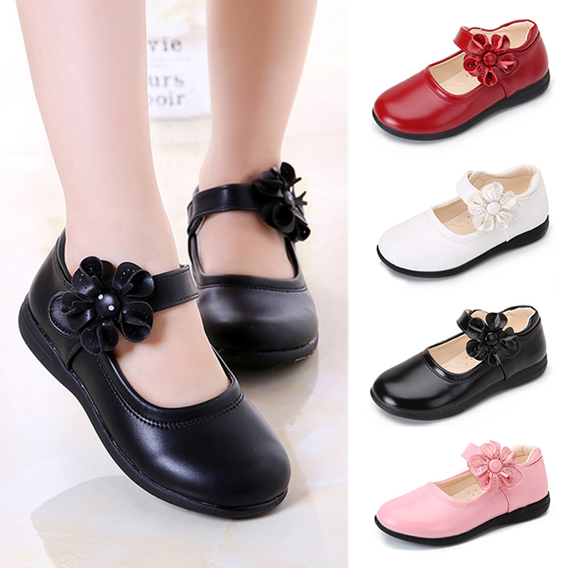 1 Pair Children Girls Sun Flowers Princess Shoes Anti-slip Breathable Fashion For Party BM88