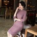 Retro Fashion Half Sleeve Women Cotton Knee Length Cheongsam Hot Sale China Lady Qipao Elegant Slim Dress M L XL XXL XXXL