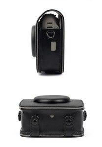 Image 5 - עבור Fujifilm Instax כיכר SQ10 SQ20 מיידי סרט תמונה מצלמה שחור/בז /חום עור מפוצל לשאת תיק מקרה עם כתף רצועה
