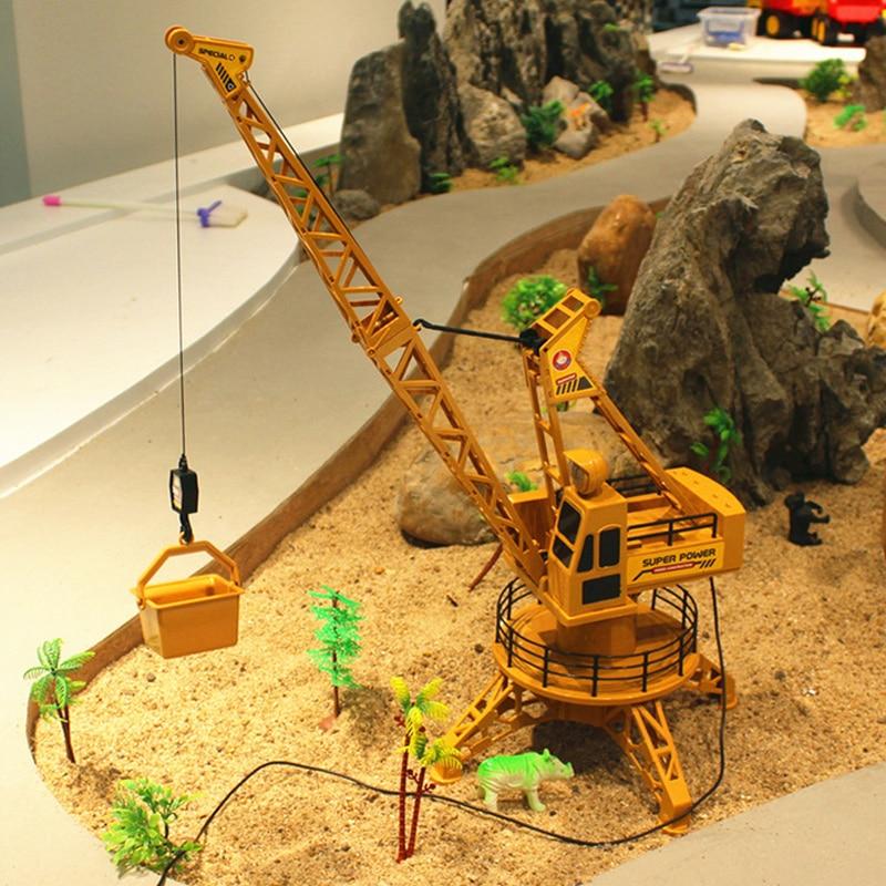 Сильный пульт дистанционного управления грузовик пластиковая коллекция инженерный кран игрушка для башенного крана Прямая