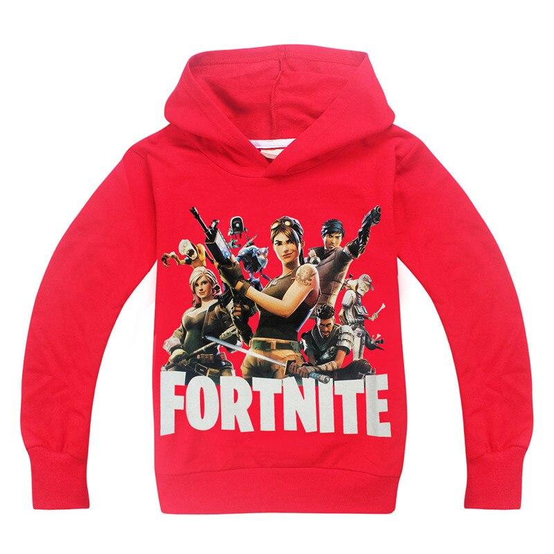 2018 Fortnite Spring summer Kids Tshirt baby Girls Pattern Long Sleeve T Shirts 3D Printed Hoodie Big Boy Sweatshirt Clothes