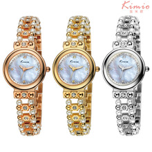 Kimio Brand Fashion Female Girls Bracelet Watch Luxury Pearl Crystal Women Wrist Watch Relojes Mujer Hour  K511S