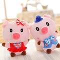 20 cm 1 unidades tirantes Desgaste Cerdo Juguetes de Peluche de Regalo de Boda Lechón muñeca de peluche de felpa de cerdo muñeca de trapo juguetes de los niños del bebé navidad