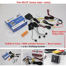 Liislee Car Parking Sensors + Rear View Back Up Camera = 2 in 1 / BIBI Alarm Parking System For SEAT Arosa 1997~2005