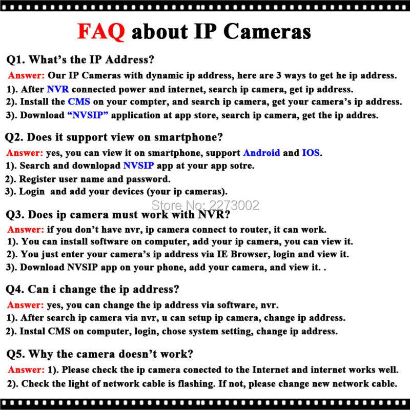 FAQ-IP Cameras