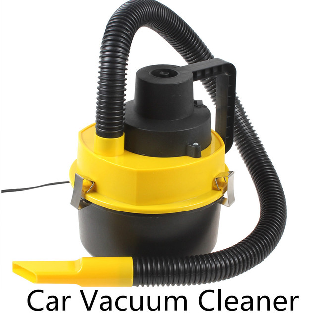 New Portable Wet and Dry with Brush / Crevice / Nozzle Head  Car Vacuum Cleaner Handheld Mini Auto Car Dust Vacuum Cleaner