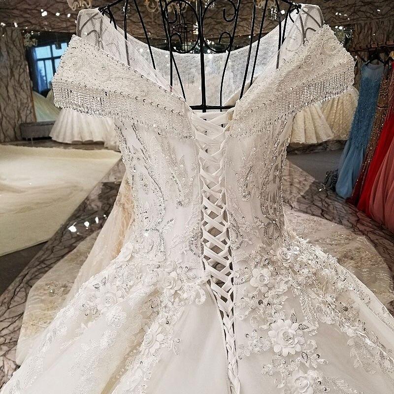 AIJINGYU Trouwjurken Collectie Eenvoudige Bruidsjurken Ivoor Beste Sexy Goedkope Uk Gown Plus Size Moslim Trouwjurk - 4