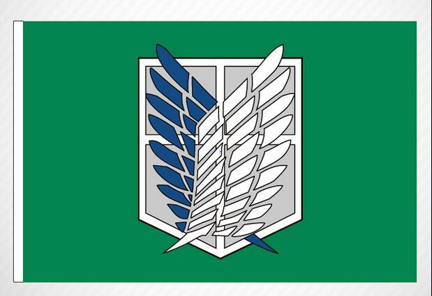 Attack On Titan Banner    Investigation Corps Flag Flag