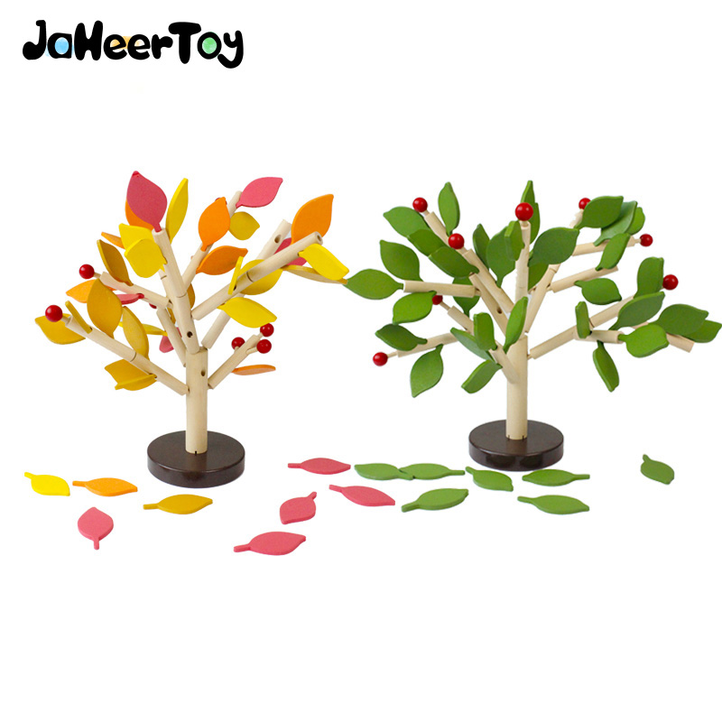 JaheerToy  2017 New Toys for  Children Montessori  Learning Education Wooden Toys Early Learning Table Tree Game Creature Blocks jaheertoy montessori educational toy white cube wooden toys small blocks geometric assembling block for children for kids