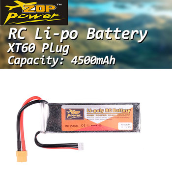 цена на ZOP Power 11.1V 45C 4500mAh 3S Lipo Battery XT60 Plug Rechargeable battery for RC Racing Drone Quadcopter Helicopter Car Boat