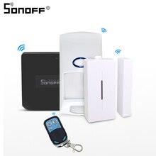 SONOFF pont RF Wifi 433mhz avec capteur dalarme de mouvement PIR2 RIR DW1 détecteur sans fil 433 télécommande sécurité de la maison intelligente