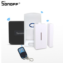 Sonoff Brug Rf Wifi 433Mhz Met Motion Alarm Sensor PIR2 Rir DW1 Draadloze Detector 433 Afstandsbediening Smart Home beveiliging