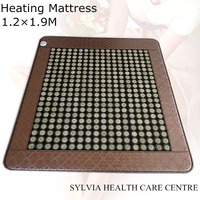 Jade Mattress Infrared Heat Therapy Healing Jade Mat / Pad Mattress Far Infrared Mattress heating Pad with eye cover 1.2X1.9M