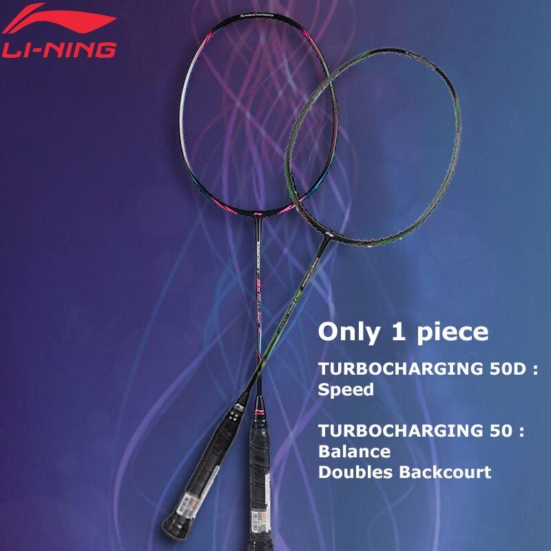 (Clearance)Li-Ning Turbo Charging 50D Badminton Rackets Single Racket LiNing Professional Racket AYPM316(AYPM408)/AYPP036 ZYF241