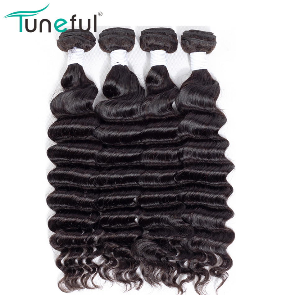Loose Deep Bundles 4 Pcs Deal Brazilian Human Hair Weave Weft Extensions No Tangle Full And Bouncy Hair Weave Remy Hair Bundles