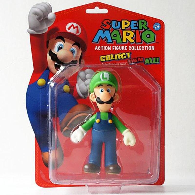 "<font><b>Super</b></font> <font><b>Mario</b></font> <font><b>Brothers</b></font> <font><b>LUIGI</b></font> <font><b>5</b></font>"" Toy <font><b>Action</b></font> <font><b>Figure</b></font> New in Box Free Shipping"