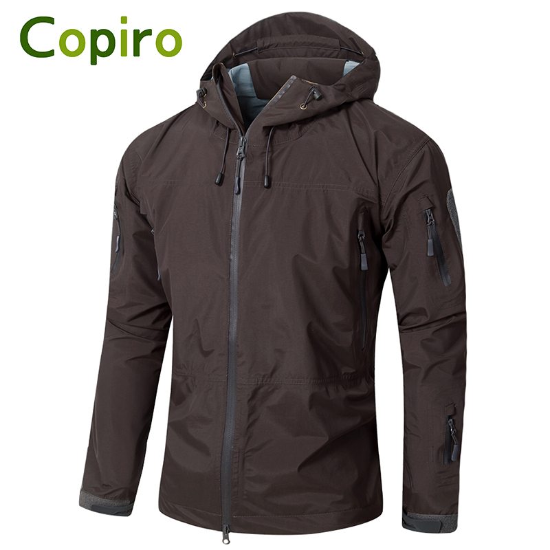 Copiro Spring Men Hiking Jacket Waterproof Military Tactical Windbreakers Hardshell Shark Skin Coats Camouflage Outdoor Clothing