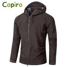 Copiro Spring Men Hiking Jacket Waterproof Military Tactical Windbreakers Hardshell Shark Skin Coats Camouflage Outdoor Clothing