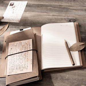 Image 5 - Блокнот для путешествий из воловьей кожи tn, серый блокнот из натуральной кожи, винтажный планер, персональный дневник в горошек, Обложка для книг