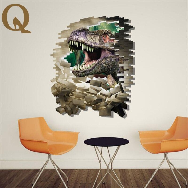 3d New Creative Cartoon Dinosaur Wall Stickers Three Dimensional Wall Stickers Living Room Bedroom Decoration