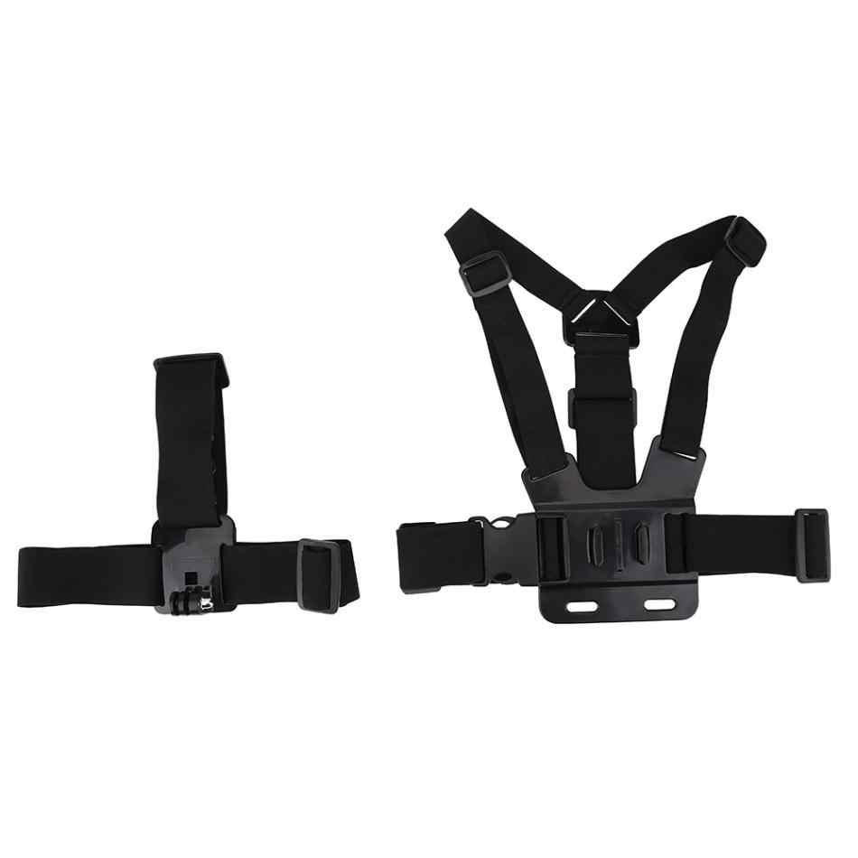 Для Gopro легкая Экшн-камера Регулируемый шлем ремень нагрудный ремень крепление аксессуар