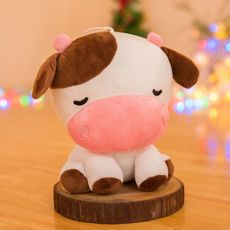 Stuffed animals plush soft kawaii cow stuffed toy seven inch exquisite lovely calf doll doll girlfriend gift birthday gift 22cm