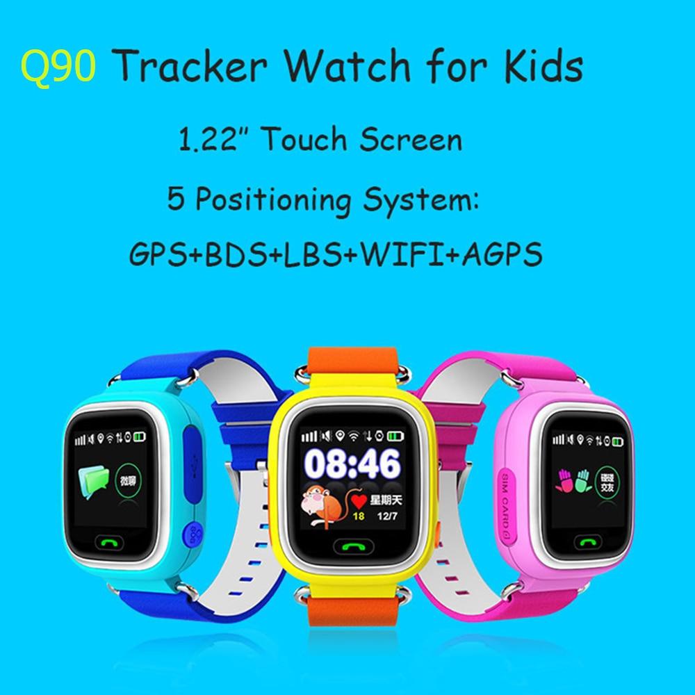 Lemado Q90 Smart Watch Phone GPS WIFI Positioning Children Watch 1.22 inch Touch