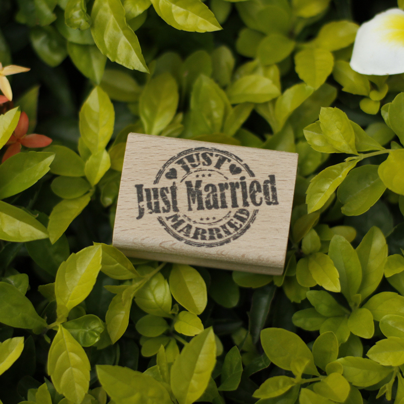 just married rubber wooden stamps for scrapbooking carimbo postcard or bookmark scrapbooking stamp 5*3.5cm stempel handmade vintage towel 7 4cm tinta sellos craft wooden rubber stamps for scrapbooking carimbo timbri stempel wood silicone stamp