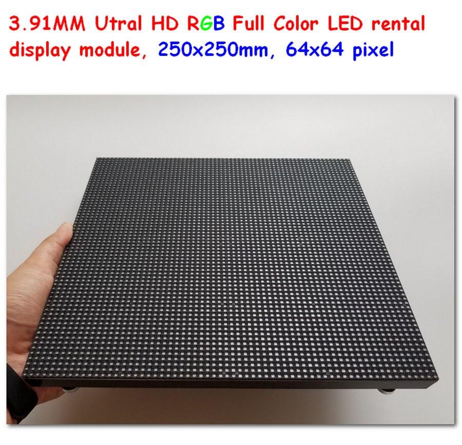 Полноцветная светодиодная панель P3.91, 64*64 пикселей, 250 мм * 250 мм, размер 3,91 мм, светодиодные модули, внутренний светодиодный модуль для аренды